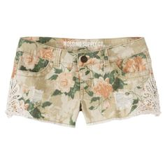 Mossimo Floral Shorts Size 3 Comfortable and cute shorts with a floral print perfect for the summer! Size 3 with a inseam. Crochet detailing on the sides. In wonderful condition! Mossimo Supply Co. Floral Jeans, Floral Shorts, Floral Lace, Pretty Outfits, Beautiful Outfits, Pretty Clothes, Beautiful Clothes, Lace Jean Shorts, Khaki Shorts