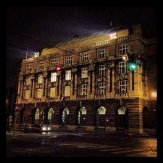 Budova #FFUK po skončení #NMI13