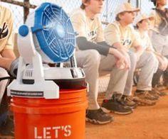 Bucket Top Misting Fan