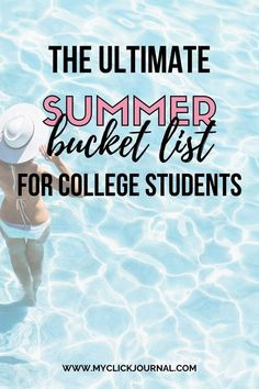 The Ultimate Summer Bucket List for Students | myclickjournal College Bucket List, Summer Bucket Lists, Paint Fight, Karaoke Party, Youtube S, Summer Jobs, Learn A New Skill, Learn A New Language, Message In A Bottle