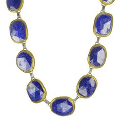 Peridot Fine Jewelry - Necklaces - Gurhan - 24 Karat Yellow Gold Faceted Lapis Stone Necklace