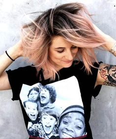 ombre bob hair Ombre Rose Gold Piecey Bob Informal Marriage ceremony Attire Today, the Gold Hair Colors, Hair Color Pink, Pink Hair, Ombre Bob Hair, Best Ombre Hair, Short Hairstyles For Women, Bob Hairstyles, Haircuts, Party Hairstyles