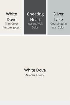 Benjamin Moore Exterior, Benjamin Moore Paint, Benjamin Moore Colors, Benjamin Moore Decorators White, White Dove Benjamin Moore Walls, White Paint Colors, Paint Colors For Home, White Paints, House Colors