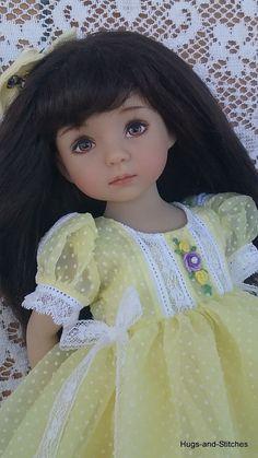 """Vintage Easter/Spring"" Dress by Eileen for Dianna Effner Little Darling 13""Doll"