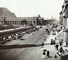 Princes Street at corner of South St David Street.  C1850