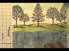"Stampin' Up! Lovely as a Tree Reflection Technique.  Use Stampin' Up! Window Sheets to create a stunning ""Reflection Technique""."