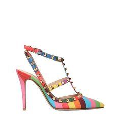 VALENTINO Rainbow Rockstud Pumps SS 2015 | Shoes