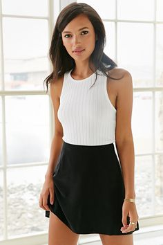 Silence + Noise Mini Ribbed Tank Top - Urban Outfitters