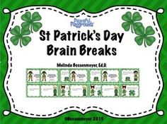 St Patrick's Day Brain Breaks Give-A-Way - Enter to win a set of 15 St Patrick's Day Brain Break Cards..  A GIVEAWAY promotion for St Patrick's Day Brain Break Cards from Peaceful Playgrounds Shop on TeachersNotebook.com (ends on 3-4-2015)