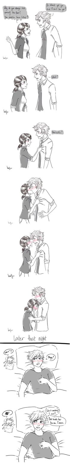 Makes me wonder sometimes... how oblivious can Adrien get?