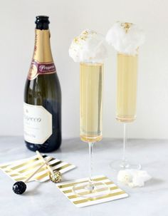 Ginger-Prosecco Cocktail.