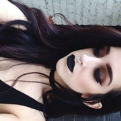 Dark brown and red eyeshadow, I'll need to try this                                                                                                                                                                                 More