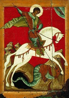 A young Lord William Saint Martin of Tours, House of Blois, catches his first dragon for supper. St Martin Of Tours, St Micheal, Byzantine Art, Saints, Old Things, Lord, Dragon, Painting, Genealogy