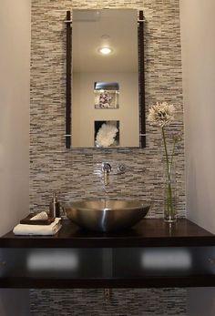 Modern Powder Room Los Angeles - Modern Furniture, Home Designs & Decoration Ideas