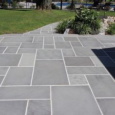 Considering your home's architecture, design tone and intended use is important when choosing masonry materials for your patio. Natural blue stone is a popular choice used in masonry patios. worksheet worksheet for kids worksheet student Concrete Patios, Bluestone Patio, Patio Stone, Slate Patio, Stone Patios, Outdoor Concrete Stain, Outdoor Patio Flooring Ideas, Slate Pavers, Stamped Concrete Driveway