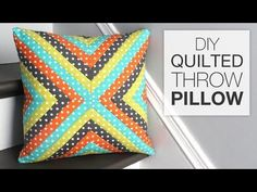 Charming Quilted Throw Pillow...Easy! - DIY Joy