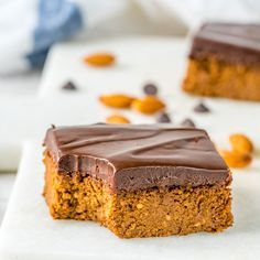 Pumpkin Peanut Butter Brownies are Clean Eating Bliss! - Clean Food Crush