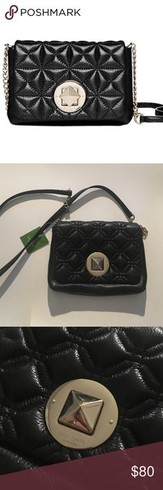 Kate Spade Whitaker Place Naomi bag Brand new with tag black Kate spade purse! Adorable for going out bright pink interior kate spade Bags Mini Bags