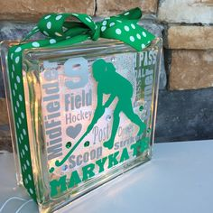 Field Hockey Midfielder Typography GemLight, Personalized by GemLights on Etsy