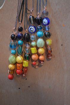 Chakra/Rainbow Pendant necklace by creativepizza36 on Etsy