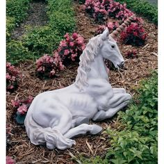 Design Toscano Mystical Unicorn of Avalon Sculpture garden decorations, patio, pool, porch, backyard Majestic Unicorn, Beautiful Unicorn, Majestic Horse, Street Gallery, Animal Statues, Outdoor Living, Outdoor Decor, Outdoor Ideas, Garden Statues