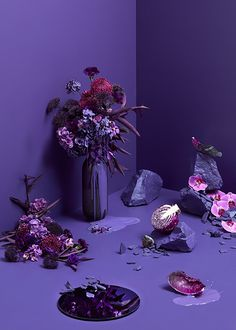 Our Pantone colour of the year 2018 - ultraviolet moodboard. Styling Allira Bell, photography Denise Braki.
