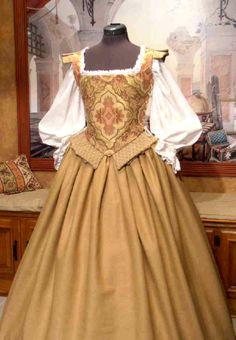 Middle or Merchant Class Elizabethan gown Mode Renaissance, Costume Renaissance, Medieval Costume, Renaissance Fashion, Renaissance Clothing, Medieval Dress, Old Dresses, Vintage Dresses, Vintage Outfits
