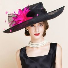 fd3b4c6dd45b8 Ladies  Gorgeous Summer Cambric With Feather Bowler Cloche Hat Fascinator  Headband