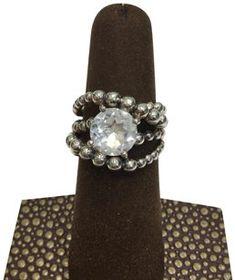 5d55be4f1 Michael Dawkins Michael Dawkins White Quartz Crossover Wrap Ring Sterling  Silver size 7 Jewelry Closet,