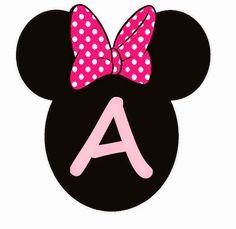 Abc Rosa en Cabezas de Minnie. Minnie Heads Pink Abc. - Oh my Alfabetos! Theme Mickey, Minnie Mouse Birthday Decorations, Mickey Mouse Parties, Mickey Mouse Birthday, Minnie Baby, Minnie Mouse Pink, Decoration Minnie, Minnie Mouse Images, Diy Birthday Banner