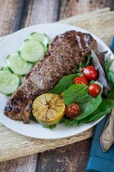 Vietnamese Pan-Seared Strip Steak --- a quick marinade makes this steak dinner perfect for a weeknight!