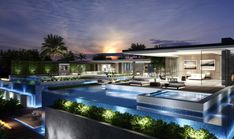 Beverly Hills Mansion, Industrial Home Design, Luxury Restaurant, Los Angeles Homes, Conceptual Design, Model Homes, Renting A House, Nice View, Exterior Design