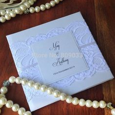 Monogram Lace Wedding Invitations At Affordable Price-in Event & Party Supplies from Home & Garden on Aliexpress.com | Alibaba Group