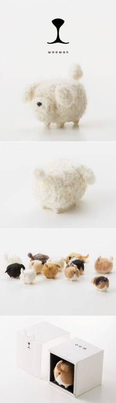 woowan/犬/dog/羊毛フェルト/Needle/Felting/mascot/doll/home/style/products/art/designs