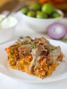 This is a re-make of my most popular recipe, the Chicken Tamale Pie, made with Carnitas instead! Total comfort food.