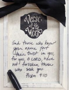 5 x 7 Verse Of The Week Paper Insert...use for your own Tabletop Memory Frame