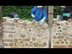 "Construction créative en ""Bois cordé"" (1) : Alain Richard - YouTube"