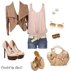 Beige and Blush - Polyvore