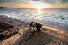 Michal Kolbek San Diego Sunset - Pro mountain biker Michal Kolbek from Poland getting the golden hour in San Diego.