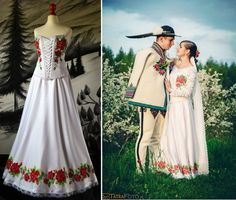 Poland: handpainted weddng dress from the region of Podhale