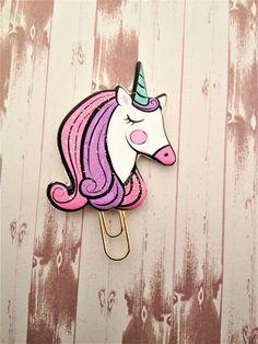 Unicorn Paper Clip, Unicorn Planner Clip, Unicorn Bookmark, Unicorn Clip, Unicorn Planner Clips with Sparkley Glitter Light Up Unicorn, Cute Bookmarks, Journal Diary, Trombone, Cute Unicorn, Paper Clip, Summer Crafts, Girls Bedroom, School Supplies