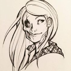 Inktober Day 13 goes to (spoilers, maybe?) Rachel Amber of Life is Strange! We are marathoning it tonight!