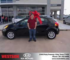 #HappyAnniversary to Alex Kahn on your 2013 #Kia #Rio from Everyone at Westside Kia!