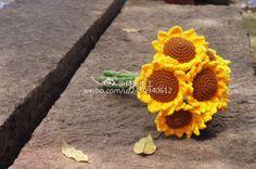 Crochet Sunflower + Diagrams