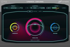 Zynaptiq UNMIX::DRUMS Plug-In: The world's first audio plugin that allows attenuating or boosting drums in mixed music, in real-time. Isolate key components of a music stem for separate processing. Sound Isolation, Music Software, Audio, Kill Switch, Sounds Great, Drum Kits, User Interface Design, Your Music, Drums