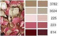 Rose, pink, Burgundy, tan, brown