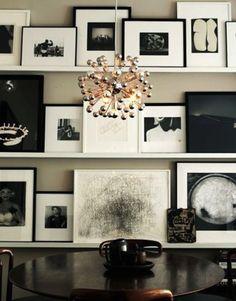 Black and white art.