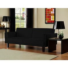 Dorel Home Furnishings Metro Convertible Futon Black - kmart - $242