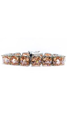 Champagne Cushion-Cut Large Tennis Bracelet by Bling by Wilkening#Repin By:Pinterest++ for iPad#