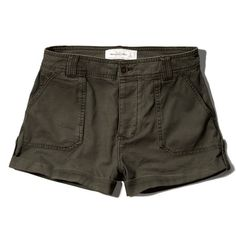 Abercrombie & Fitch Military Twill Shorts ($24) ❤ liked on Polyvore